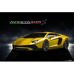 Lamborghini Aventador S Roadster New Giallo Orion Looksmart LS482E