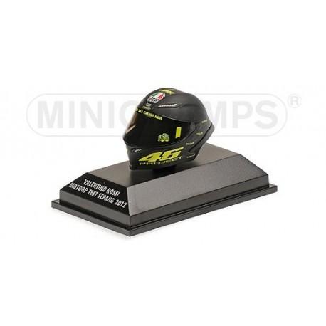 Casque 1/8 AGV Valentino Rossi Moto GP Test Sepang 2012 Minichamps 398120076