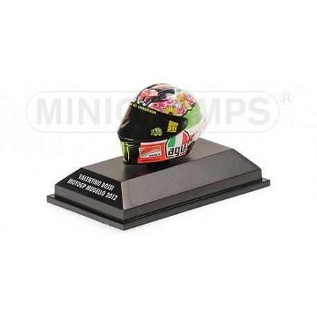 Casque 1/8 AGV Valentino Rossi Moto GP Mugello 2012 Minichamps 398120086
