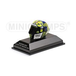 Casque 1/8 AGV Valentino Rossi Moto GP Test Valencia 2013 Minichamps 398130086