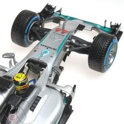 Mercedes F1 W07 Hybrid Grand Prix du Brésil 2016 Lewis Hamilton Minichamps 110160644