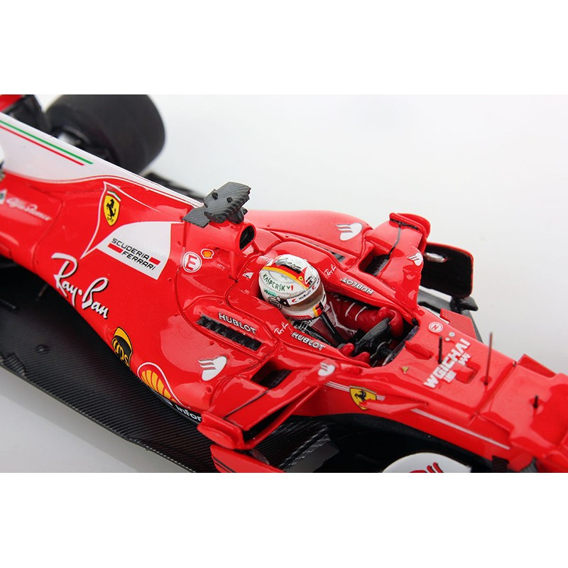 ferrari sf70 h f1 2017 sebastian vettel looksmart lsf107 miniatures minichamps. Black Bedroom Furniture Sets. Home Design Ideas