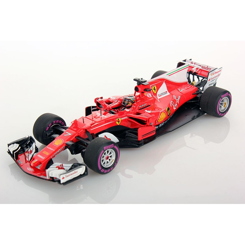 ferrari sf70 h f1 2017 kimi raikkonen looksmart lsf108 miniatures minichamps. Black Bedroom Furniture Sets. Home Design Ideas