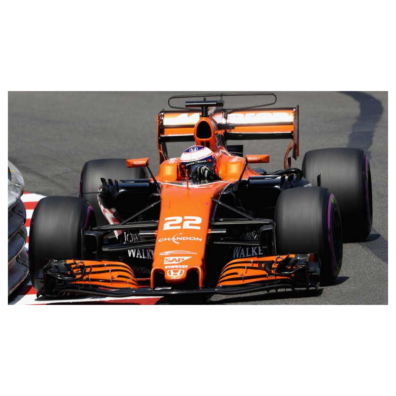 mclaren honda mcl32 f1 monaco 2017 jenson button spark s5046 miniatures minichamps. Black Bedroom Furniture Sets. Home Design Ideas