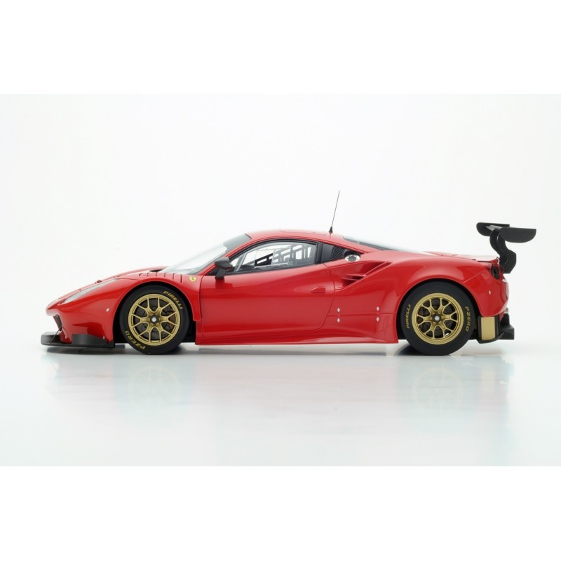 ferrari 488 gt3 pres version 2015 looksmart ls18rc09 miniatures minichamps. Black Bedroom Furniture Sets. Home Design Ideas
