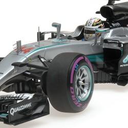 Mercedes F1 W07 Hybrid 44 Grand Prix d'Abu Dhabi 2016 Lewis Hamilton Minichamps 110160744