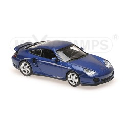 Porsche 911 Turbo (996) Blue Metallic 1999 Minichamps 940069301