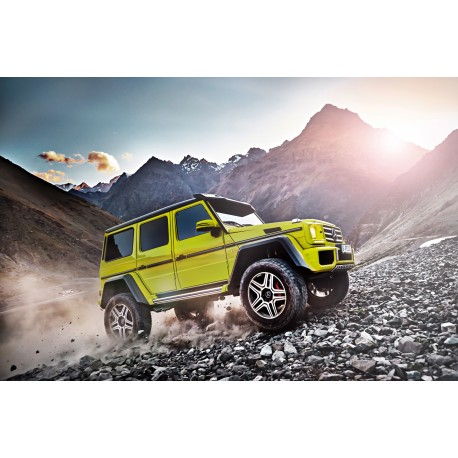 Mercedes Benz G500 4x4 Concept Yellow Almost Real Alm420201 Miniatures Minichamps