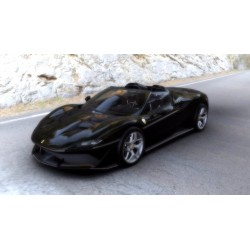 Ferrari J50 Body Color Nero Daytona Shiny with line on the side skirt Looksmart LS18016F