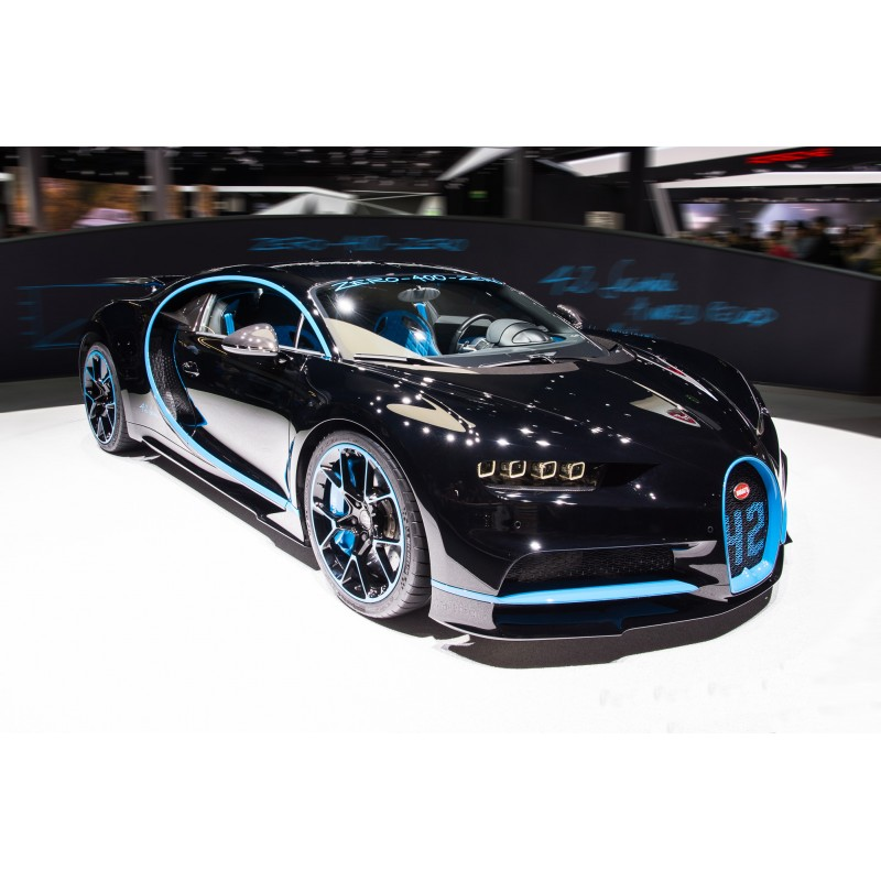bugatti chiron zero 400 with rear wing up looksmart ls459se miniatures minichamps. Black Bedroom Furniture Sets. Home Design Ideas
