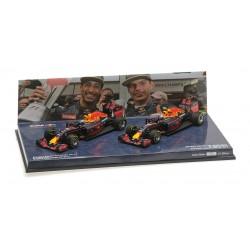 2 Car Set Red Bull Racing Tag Heuer RB12 F1 Malaisie 2016 Ricciardo Verstappen Minichamps 472163303