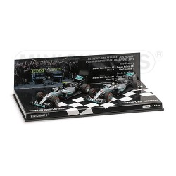 Set Mercedes W07 Hybrid Constructor World Champion F1 2016 Minichamps 412164406