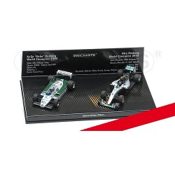 2 Car Set Williams Ford FW08 1982 Mercedes F1 W07 2016 Keke & Nico Rosberg Minichamps 412821601