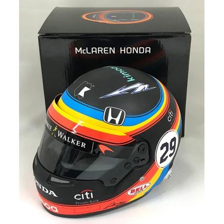 Casque 1/2 Fernando Alonso F1 2017 Bell