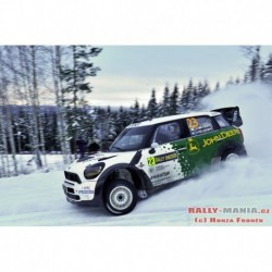 Mini John Cooper Works 23 WRC Rallye de Suède 2013 Nikara Kalliolepo IXO RAM547
