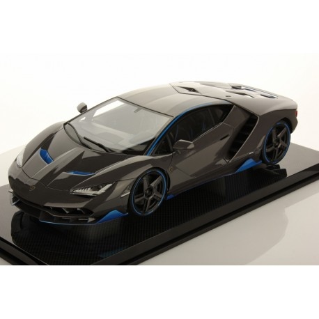 Lamborghini Centenario Shiny Carbon Fibre With Blue Nethuns Accents 2016 Looksmart LS1208SE9