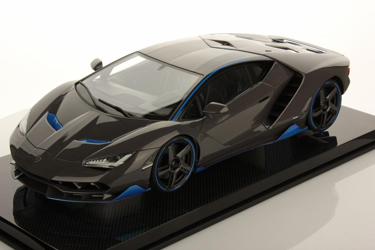 Lamborghini Centenario Shiny Carbon Fibre With Blue Nethuns Accents