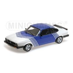 Ford Capri 3.0 White With Blue Stripes 1978 Minichamps 155788600