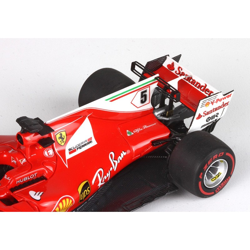 ferrari sf70 h 5 f1 winner monaco 2017 sebastian vettel bbr bbrc201a miniatures minichamps. Black Bedroom Furniture Sets. Home Design Ideas