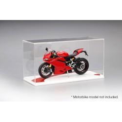 Boitier Showcase 1/12 Ducati Blanc Type I Truescale TSMAC006