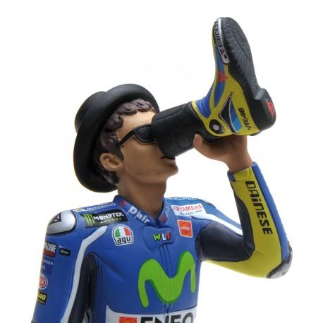 Figurine 1/12 Valentino Rossi Moto GP 2016 Victory drink Minichamps 312160046