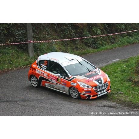 Peugeot 208 R2 29 Rallye du Condroz 2013 Abbring Vyncke IXO RAM561