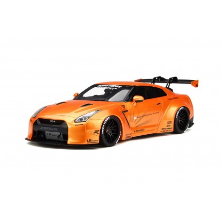LB Nissan GTR R35 Orange Metallic GT Spirit GT742