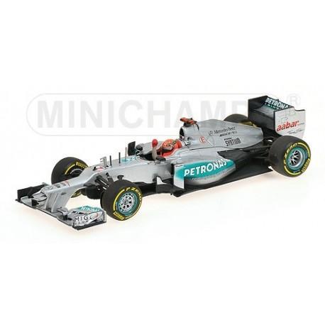 Mercedes GP W03 3rd Valence 2012 Michael Schumacher Minichamps 410120207