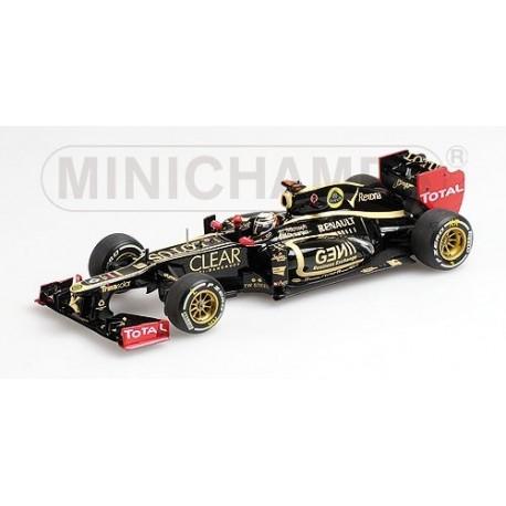 Lotus Renault E20 F1 Abu Dhabi 2012 Kimi Raikkonen Minichamps 410120209