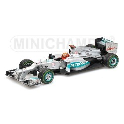 Mercedes GP W03 Brésil 2012 Last Race Michael Schumacher Minichamps 410120407