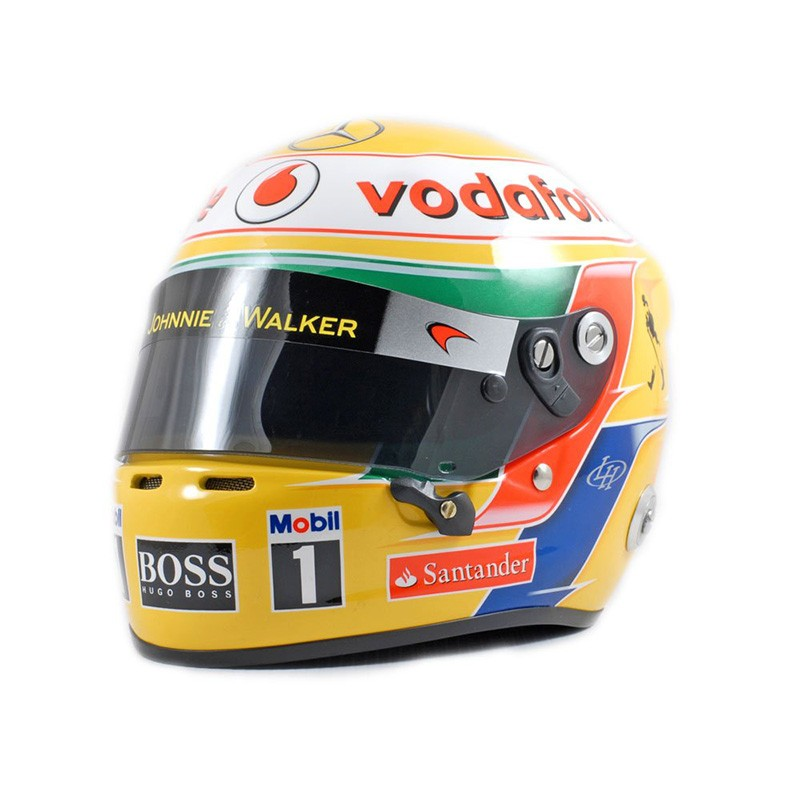 casque 1 2 lewis hamilton f1 2012 bell 70200006 miniatures minichamps. Black Bedroom Furniture Sets. Home Design Ideas