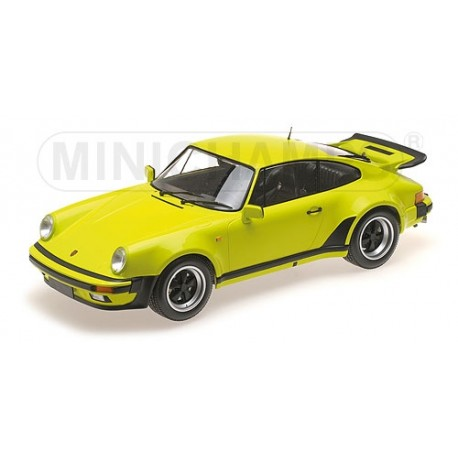 Porsche 911 Turbo Acid Green 1977 Minichamps 125066121 1/12