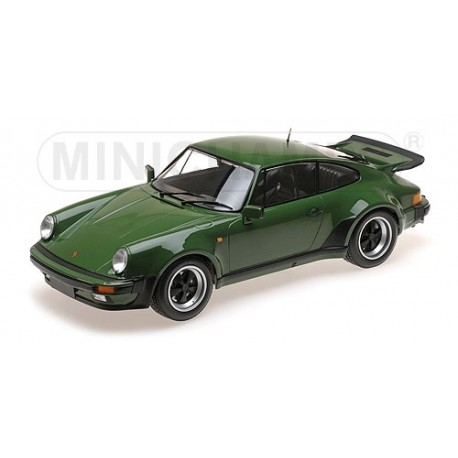 Porsche 911 Turbo Dark Green 1977 Minichamps 125066117 1/12