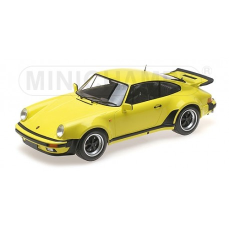 Porsche 911 Turbo Light Yellow 1977 Minichamps 125066108 1/12