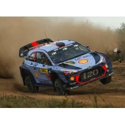 Hyundai i20 WRC Rallye d'Espagne 2017 Avec Decals Neuville Mikkelsen IXO RAM645B