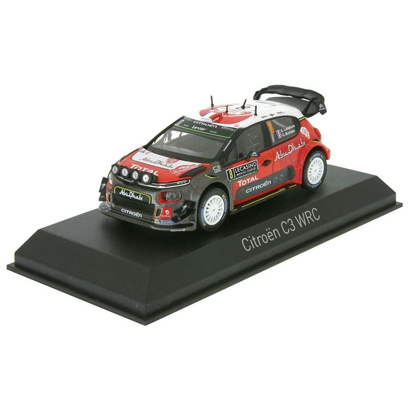 1//43 Norev Voiture 155362 Citroën C3 WRC Rallye Monte Carlo 2017 Lefebvre