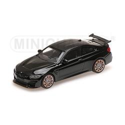 BMW M4 GTS 2016 Noire avec jantes oranges Minichamps 410025222