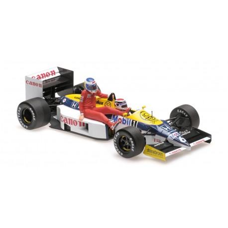 Williams Honda FW11 F1 Allemagne 1986 Keke Rosberg riding on Nelson Piquet Minichamps 117860106