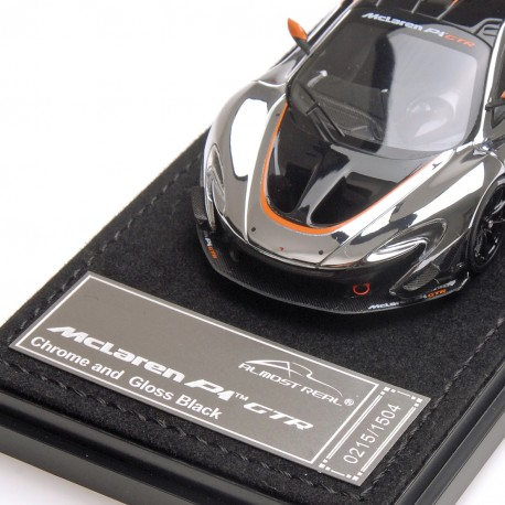 mclaren p1 gtr chrome and gloss black almost real alm440105