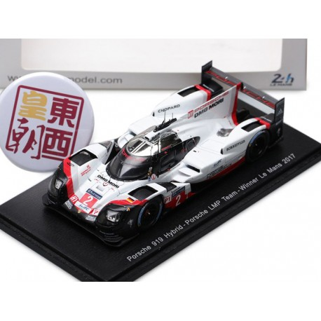 porsche 919 hybrid 2 winner 24 heures du mans 2017 spark 43lm17 miniatures minichamps. Black Bedroom Furniture Sets. Home Design Ideas