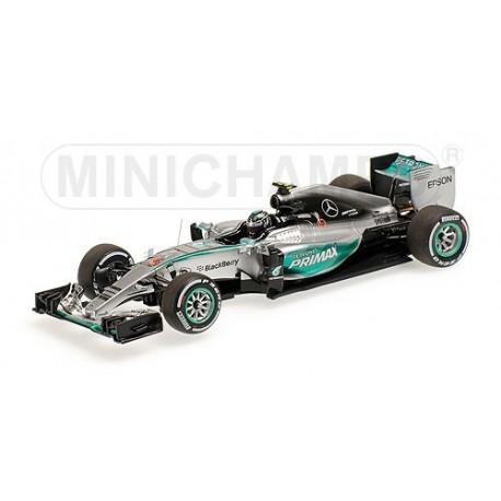 Mercedes W06 Hybrid F1 Malaisie 2015 Nico Rosberg Minichamps 417150006