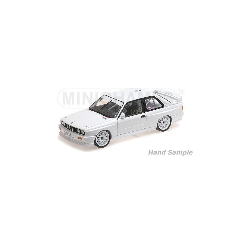 Bmwplain: BMW M3 1987 Plain Body Version White Minichamps 125872000
