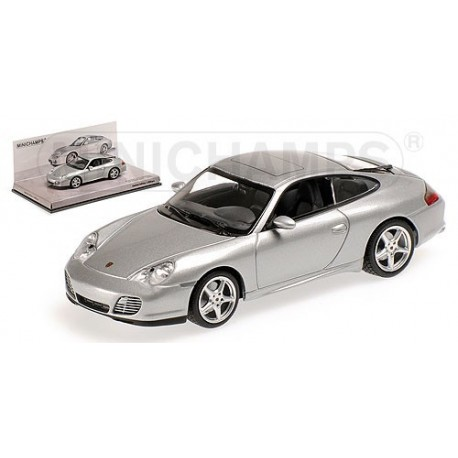 Porsche 911 Carrera 996 2003 Silver Minichamps 436061070