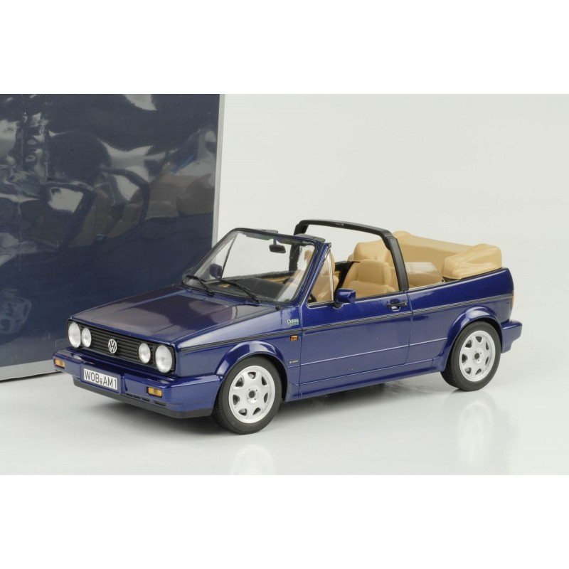 volkswagen golf 1 cabriolet classic line bleue metal 1992. Black Bedroom Furniture Sets. Home Design Ideas