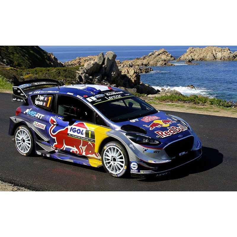 ford fiesta wrc 1 tour de corse 2018 ogier ingrassia ixo ram674 miniatures minichamps. Black Bedroom Furniture Sets. Home Design Ideas