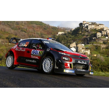 citroen c3 wrc 11 tour de corse 2018 loeb elena ixo ram672 miniatures minichamps. Black Bedroom Furniture Sets. Home Design Ideas
