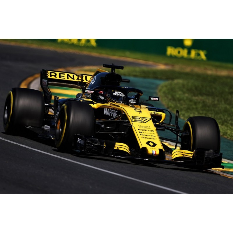 renault rs18 f1 2018 nico hulkenberg spark s6057 miniatures minichamps. Black Bedroom Furniture Sets. Home Design Ideas