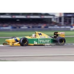 Benetton Ford B192 F1 Silverstone 1992 Martin Brundle Minichamps 110920020
