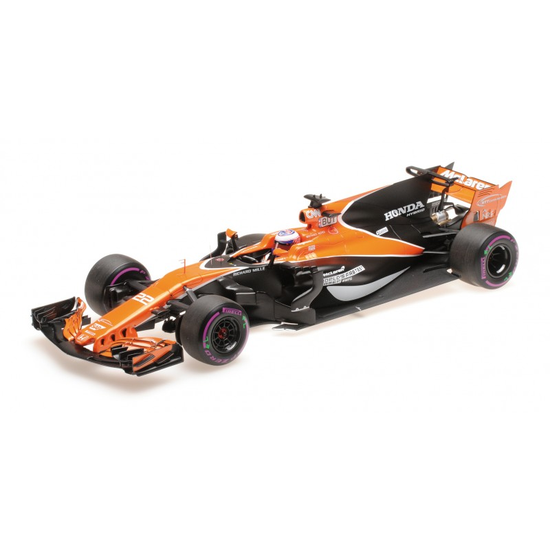 mclaren honda mcl32 grand prix de monaco 2017 jenson button minichamps 537171822 miniatures. Black Bedroom Furniture Sets. Home Design Ideas