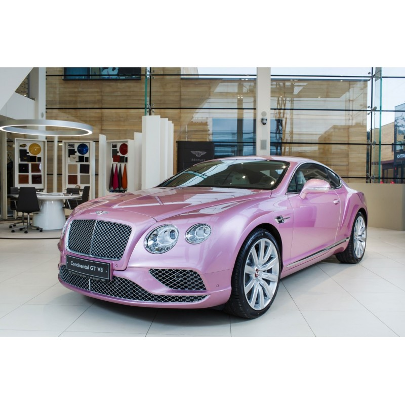 One For The Ladies Bentley Continental Gt Pink: Bentley Continental GT V8 S Black Edition Passdion Pink
